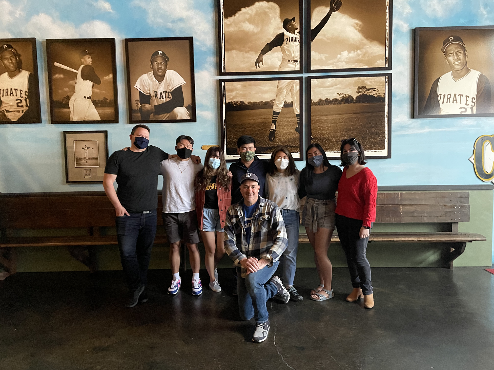 Group photo of the students at the Clemente Museum