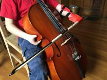 3D printed bow device for cello