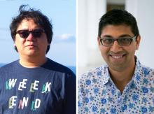 side by side photos of Joseph Chee Chang and Niki Kittur