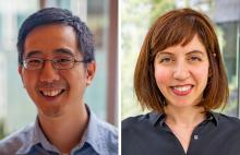 side by side photos of Jason Hong and Laura Dabbish