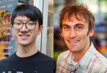 side by side images of HCII PhD student Jason Wu and his advisor Jeff Bigham